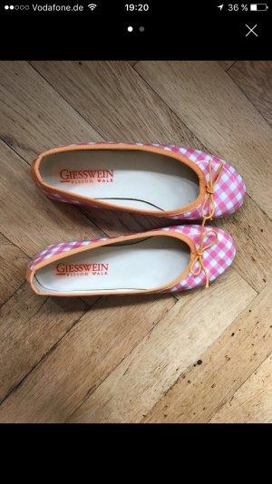 Giesswein Ballerinas Tracht Gr.37 pink orange
