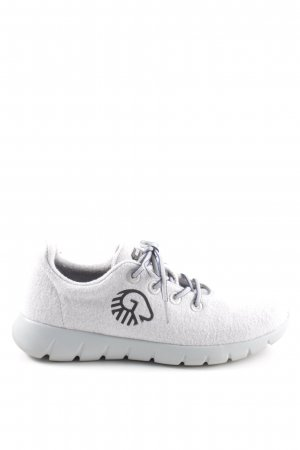 Giesswein Lace-Up Sneaker light grey-black themed print casual look