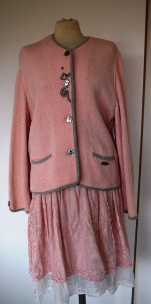 Giesswein Folkloristische jas rosé Gemengd weefsel