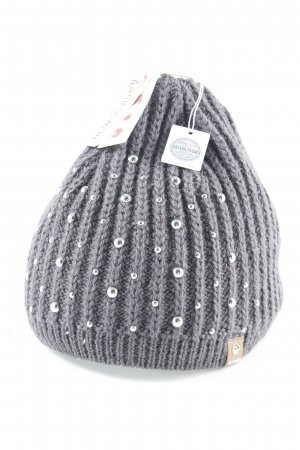 Giesswein Cappello a maglia grigio scuro stile casual