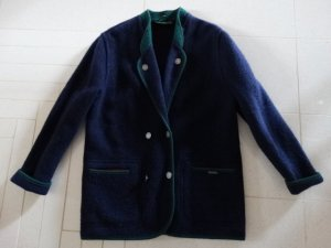 Giesswein Veste bavaroise bleu foncé laine vierge