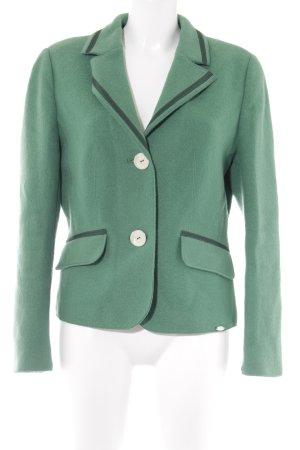 Giesswein Woll-Blazer grün-dunkelgrün extravaganter Stil
