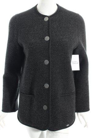 Giesswein Veste en laine gris foncé style décontracté