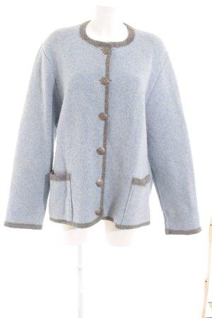 Giesswein Giacca di lana azzurro-grigio stile casual