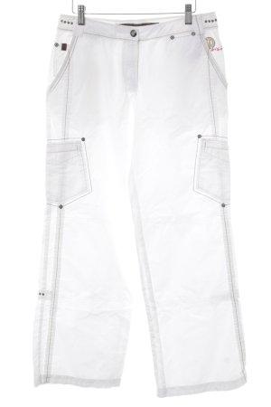 Giga Dx Pantalon cargo blanc-noir style décontracté