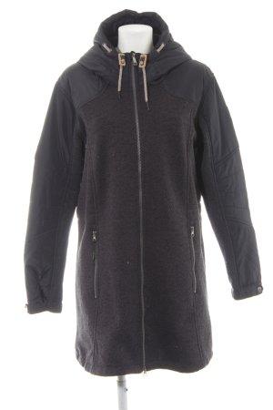 Giga Dx Manteau à capuche bleu foncé-gris ardoise style décontracté