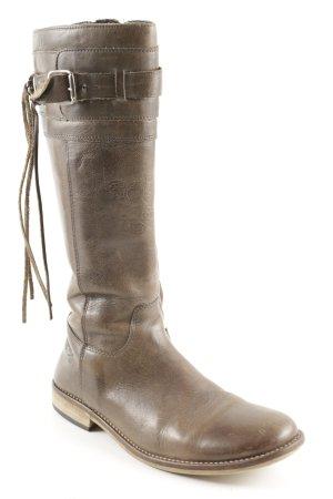 Giga Dx Kaplaarzen grijs-bruin straat-mode uitstraling