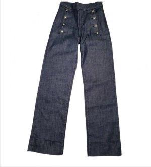 Tommy Hilfiger Denim Pantalon taille haute gris foncé-gris anthracite