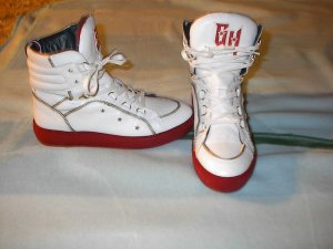 Gigi Hadid x Tommy Hilfiger Lace-Up Sneaker white-brick red leather