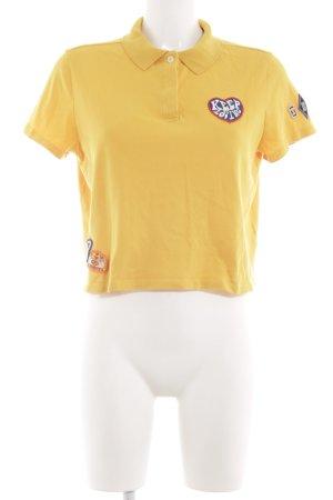 Gigi Hadid x Tommy Hilfiger Polo-Shirt blassgelb Casual-Look