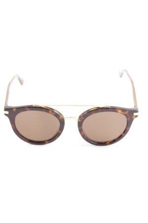 Gigi Hadid x Tommy Hilfiger runde Sonnenbrille dunkelbraun-cognac Leomuster