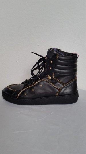 Gigi Hadid x Tommy Hilfiger, Sneakers, Leder, schwarz, EU 40, neu