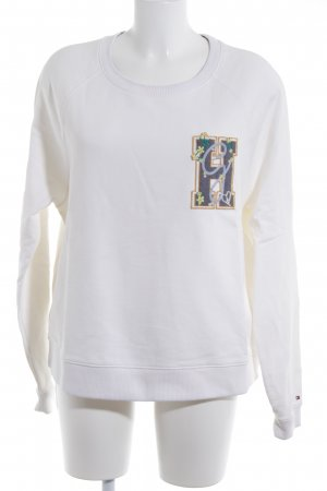 Gigi Hadid x Tommy Hilfiger Sweatshirt Schriftzug gestickt Casual-Look