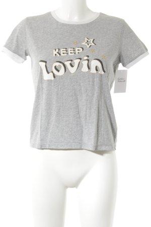 Gigi Hadid x Tommy Hilfiger T-Shirt Schriftzug gedruckt Casual-Look