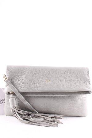 Gigi New York Borsa clutch grigio chiaro stile classico
