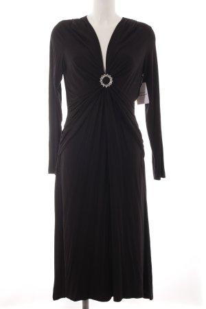 Gil Bret Vestido de tela de jersey negro elegante