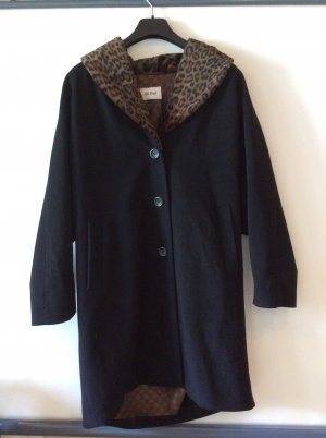 Gil Bret Cappotto in lana nero-marrone