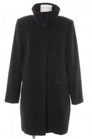 Gil Bret Oversized Mantel schwarz-hellgrau meliert 90ies-Stil
