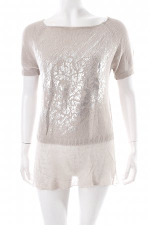 Gil Bret Knitted Jumper beige-silver-colored placed print