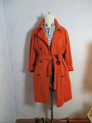 Gil Bret Trenchcoat Orange Parka Jacke Mantel Oversize Taillengurt 40 42 M L