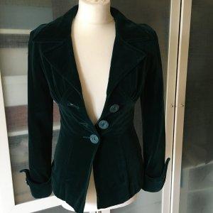 Gil Bret Vintage Blazer aus grünem Samt Gr. 34