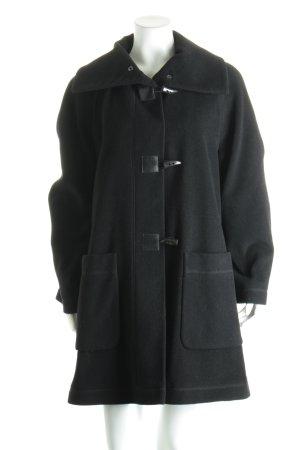 Gil Bret Wollmantel schwarz schlichter Stil