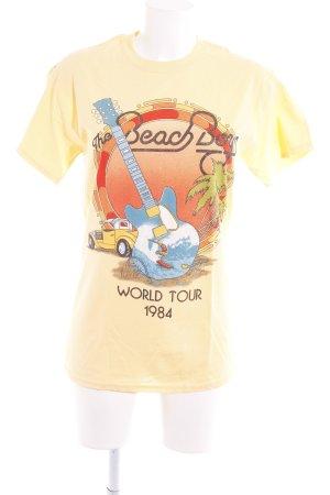 Gildan T-Shirt dunkelgelb Motivdruck Casual-Look