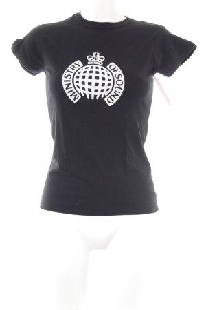 Gildan T-Shirt schwarz-weiß Motivdruck