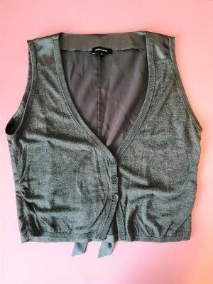 More & More Boléro en tricot gris anthracite-gris foncé viscose