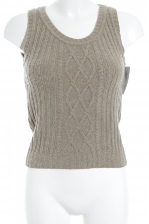 Gilles Dufour Paris Fine Knitted Cardigan light brown cable stitch classic style