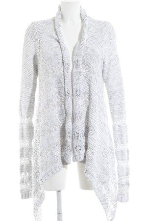 Gilly Hicks Cardigan bianco-grigio chiaro puntinato stile casual