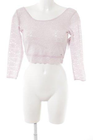 Gilly Hicks Camisa recortada rosa claro estampado floral elegante