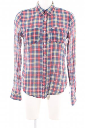 Gilly Hicks Karobluse rot-blau Allover-Druck Casual-Look