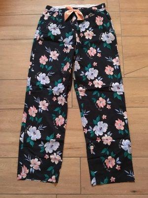 Gilly Hicks lange Pyjama-Hose Schlafanzughose Größe M dunkelblau mit Blumenmuster