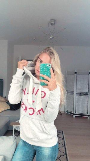 Gilly Hicks Pullover XS Grau Grey Logo rosa