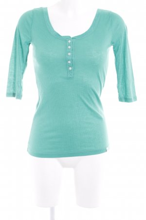 Gilly Hicks Geribd shirt groen casual uitstraling