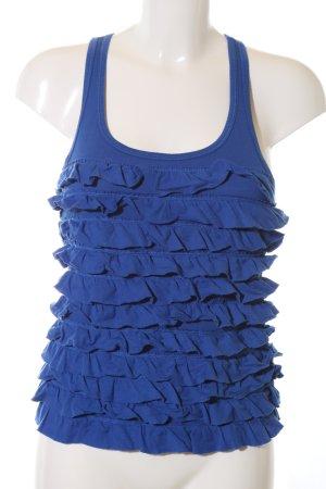 Gilly Hicks Top met franjes blauw casual uitstraling