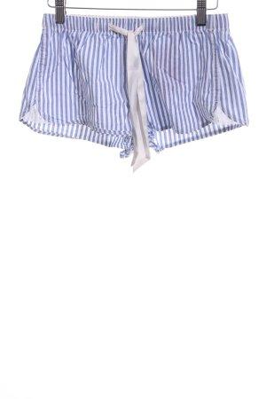 Gilly Hicks Shorts blau-weiß Streifenmuster Casual-Look