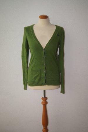 Gilly Hicks Strickjacke Cardigan Feinstrick grün