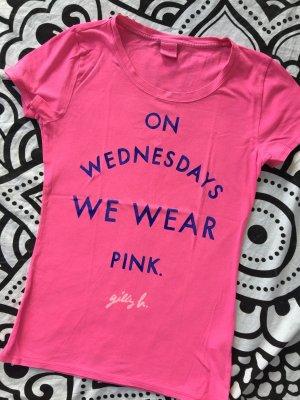 Gilly Hicks T-Shirt Gr. S pink Statement Shirt kurzarm rundhals