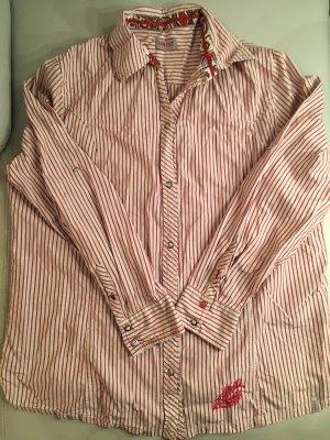GIN FIZZ Hemdbluse mit Druckknöpfen, rot gestreift, Gr. 46, wie NEU