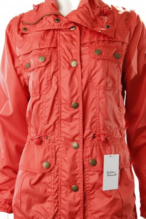 Gin Tonic Raincoat salmon-red Embroidered ornaments
