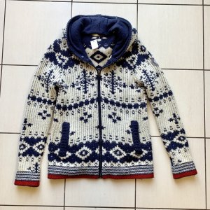 Gin Tonic Coarse Knitted Jacket natural white-dark blue