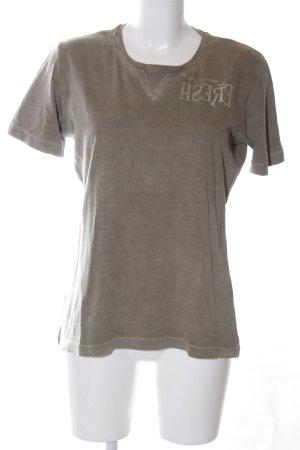 Gin Tonic T-Shirt hellgrau Schriftzug gedruckt Casual-Look