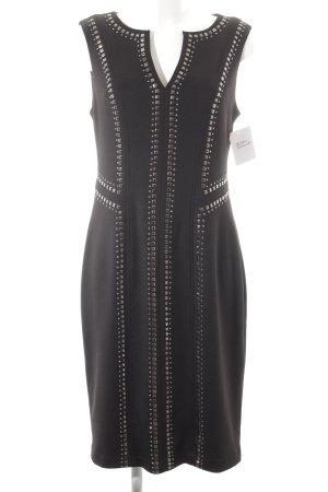 Gina Bacconi Etuikleid schwarz-silberfarben Elegant