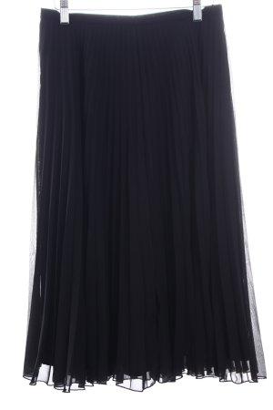 Gina Bacconi Plisseerock schwarz Elegant