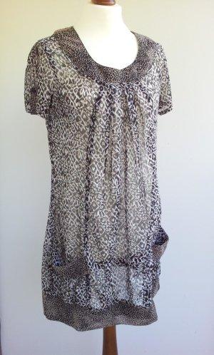 Gina Benotti Chiffon-Tunika / Kleid in M (40/42), Leo-Muster Falten Taschen
