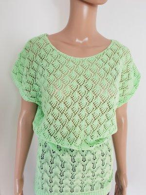 Gina Benotti Gehaakt shirt grasgroen-lichtgroen Katoen
