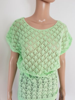Gina Benotti Damen Lochstrick Shirt Pullunder Oversized Größe S mint