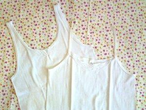 GINA BENOTTI  Damen Unterhemd Achselhemd weiß Spitze Gr. 46